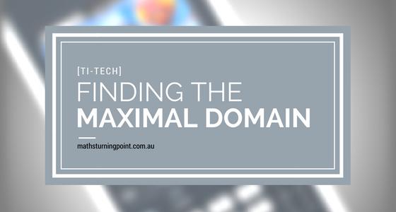 Maximal Domain